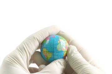 little Earth globe