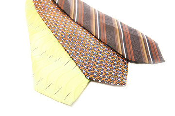 Necktie on white background