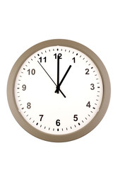 Wall clock isolated on white background