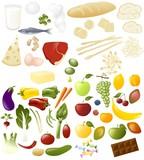 proteine- carboidrati-verdure-frutta poster