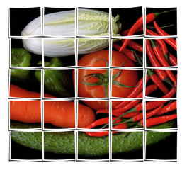 vegetable mix collage