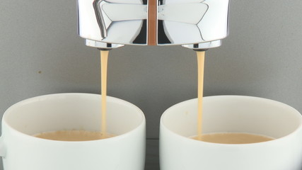 close up of coffeemaker pouring fresh coffee