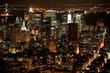 nighttime in New York, Manhattan