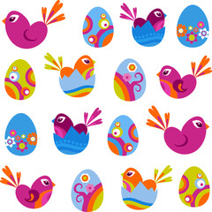 Easter decorative icons
