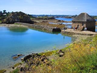 Moulin de Birlot à marée basse