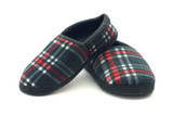 A warm and cozy pair of flannel slippers. poster