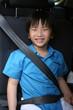 Boy with seat-belt
