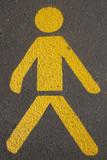 Männchen auf Strasse poster