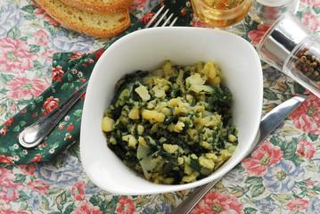 Bietole patate ed aglio - Contorni