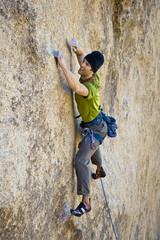Male rock climber.
