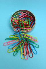 Paper Clips in Tin