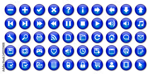 Web Buttons Poster (blue)