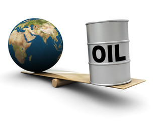 earth and oil