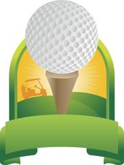 Golf Ball Tee Off