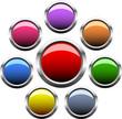 Set of circle vector button