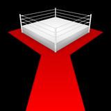 wrestling-ring (schwarzer hintergrund) poster