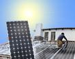 panneau solaire au montage