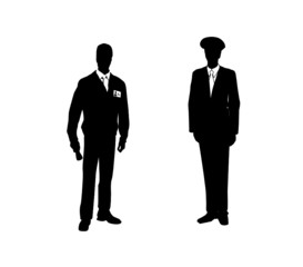 Silhouette of people. Vector illustration