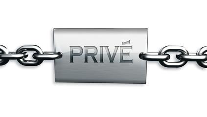 Plaque 3D privé fond blanc