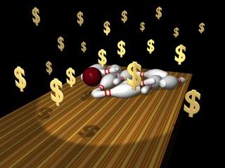 bowling strike, win money