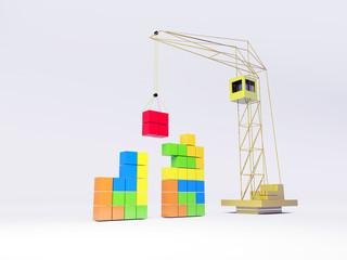 Tetris concept. White