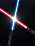Fototapety Crossed light sabers