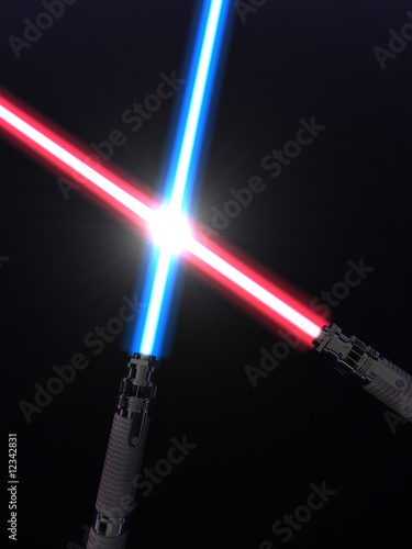 Crossed light sabers © Scanrail