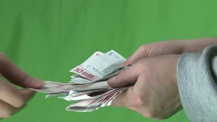Geldschein ziehen