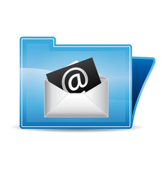 Mail contact icon folder