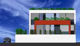 3d of a modern house idyllic poster