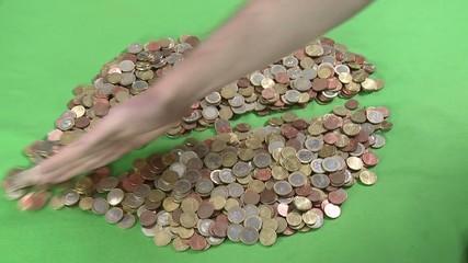 Geld Herz durchbohren