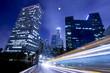 Traffic in Los Angeles under the moonlight