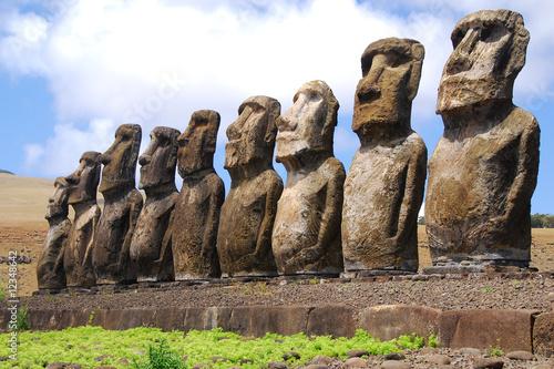 Leinwandbild Motiv Ahu Tongariki - Easter Island