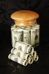 Dollars in bank.