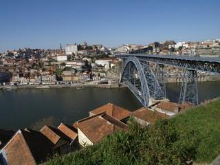 La ciudad de Oporto desde lo alto del puente Dom Luis(Portugal)