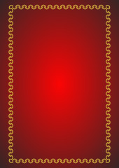 red background - vector