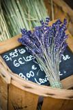 Fototapety Flowers of lavender in the wicker basket