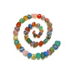 Multi-coloured tumbled stone SPIRAL