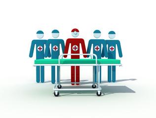 Male medical team