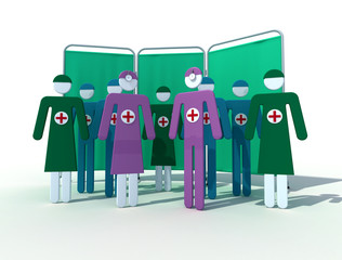 assorted medical team