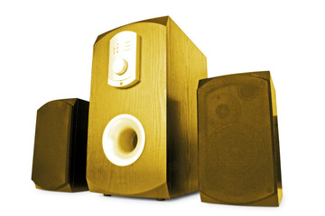music. stylish speakers isolated