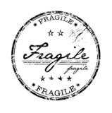Fragile stamp poster