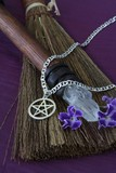 Pentacle Necklace with other wicca objects poster