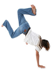Teen Boy doing Handstand