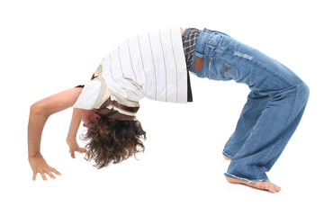 Teen Boy doing Backbend