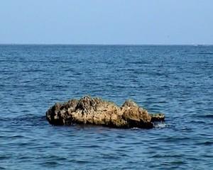 Lonely Rock on Ocean