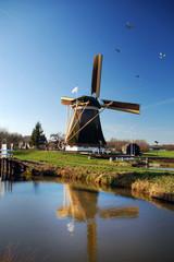 Beautiful dutch windmill