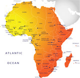 Political map of Africa poster