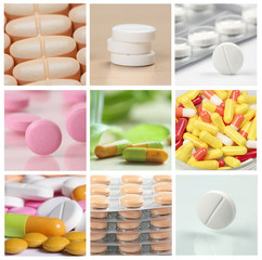 collage of assorted pills