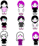 Nine Brand New Emo Dolls. More Emo in my portfolio. poster